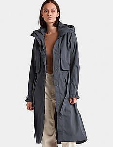 LOVA WNS COAT 2 - trenchcoats - navy dust