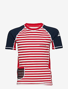 SURF KIDS SS UV TOP - CHILI RED