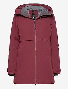 HELLE WNS PARKA 2 - parkacoats - anemon red