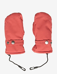FISKEN KIDS MITTENS - RASPBERRY RED