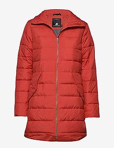 HILDUR WNS JKT - manteaux d'hiver - ember red
