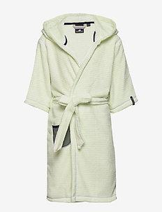 PIER KIDS BEACH ROBE - bathrobes - split green simple stripe