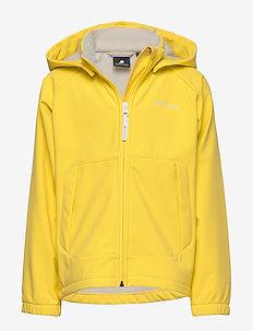 DELLEN KIDS JKT - softshell jacket - pollen yellow