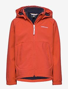 DELLEN KIDS JKT - softshell jacket - tile orange