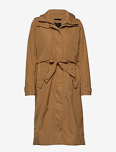 LOVA WNS COAT 2 - trenchcoats - almond brown