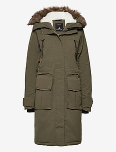 LEONA WNS PARKA - parka coats - fog green