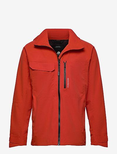 ASTON USX JKT - manteaux de pluie - lava red