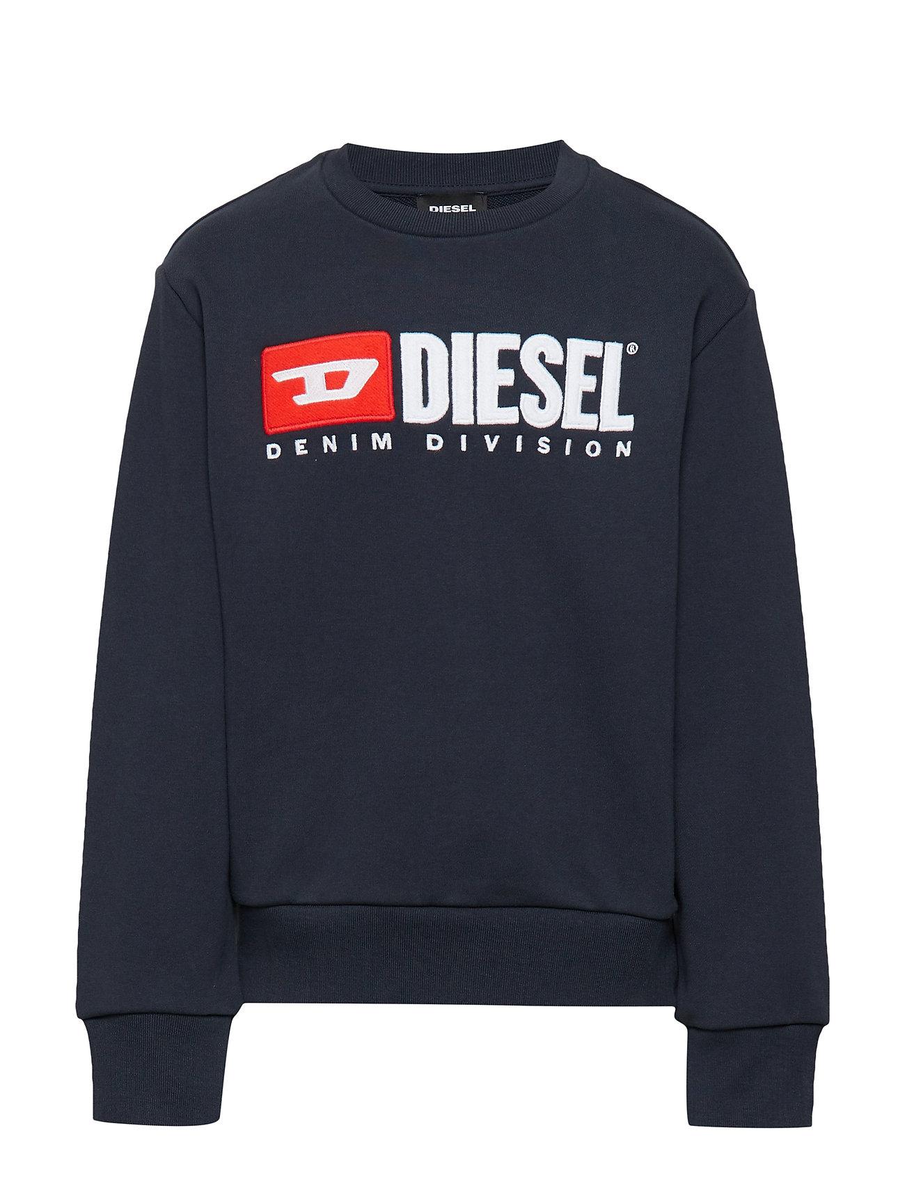 Diesel SCREWDIVISION OVER SWEAT-SHIRT - DARK BLUE