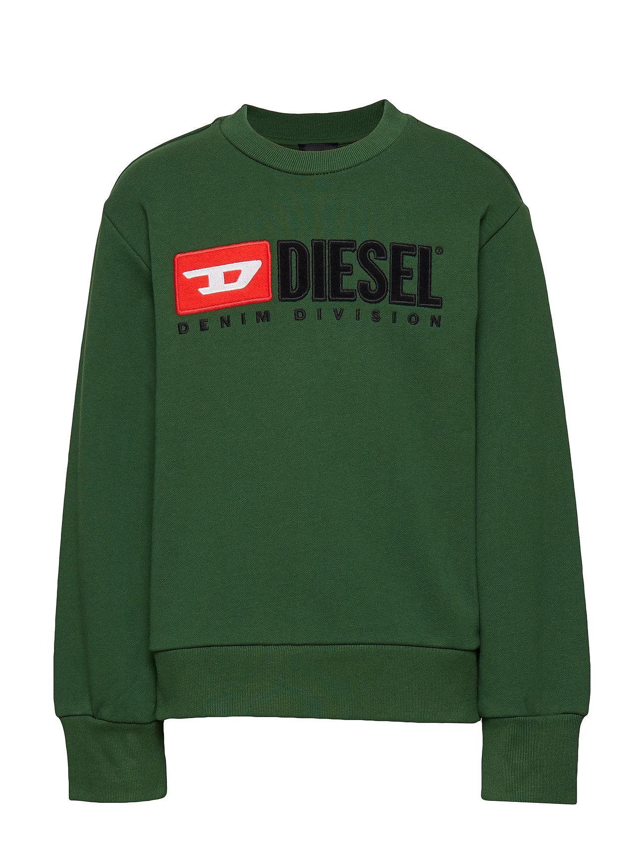 Diesel SCREWDIVISION OVER SWEAT-SHIRT - DARK GREEN