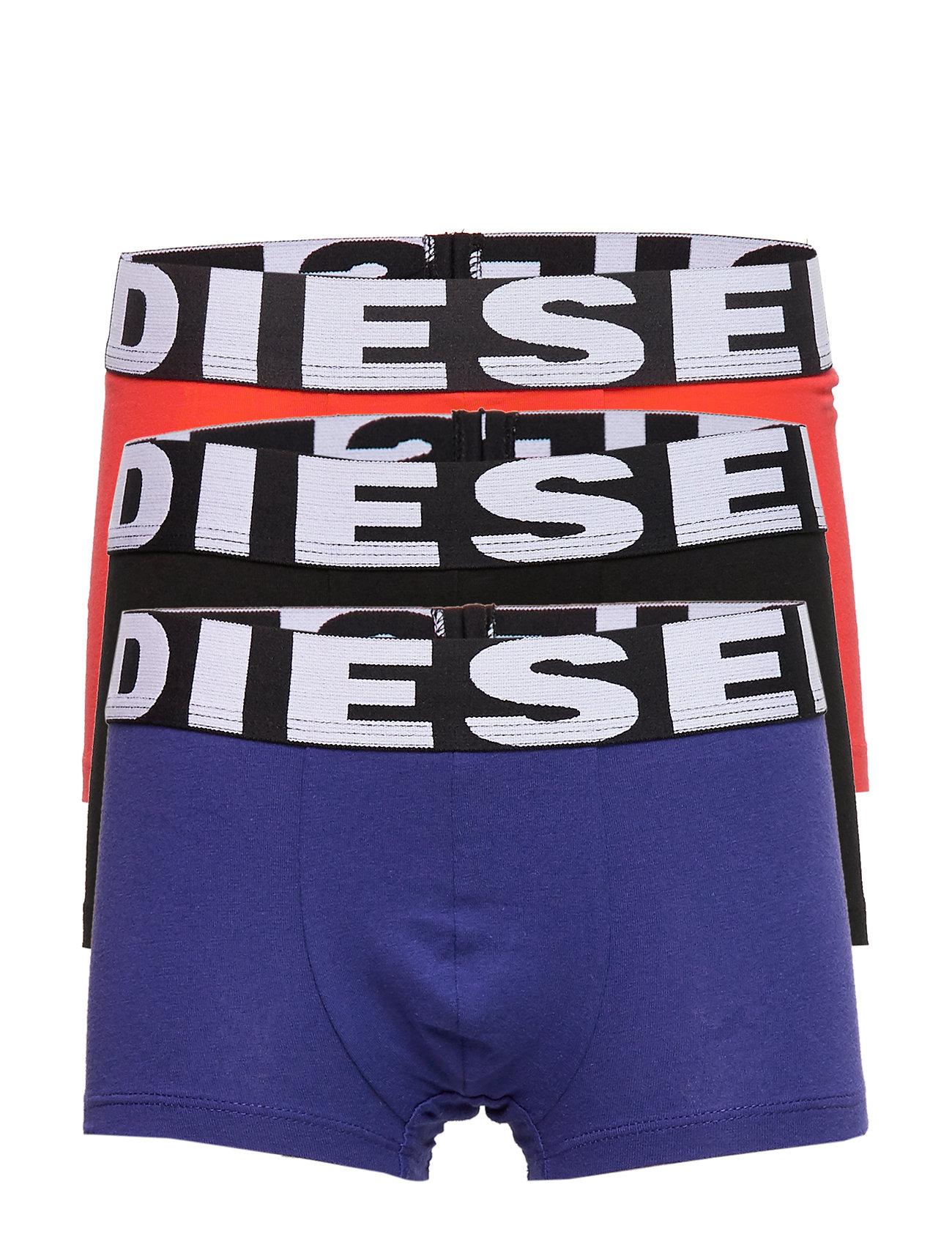 Diesel UMBX-USHAWNTHREEPACK BOXER -SHORTS - BLACK+BLUETTE+RED