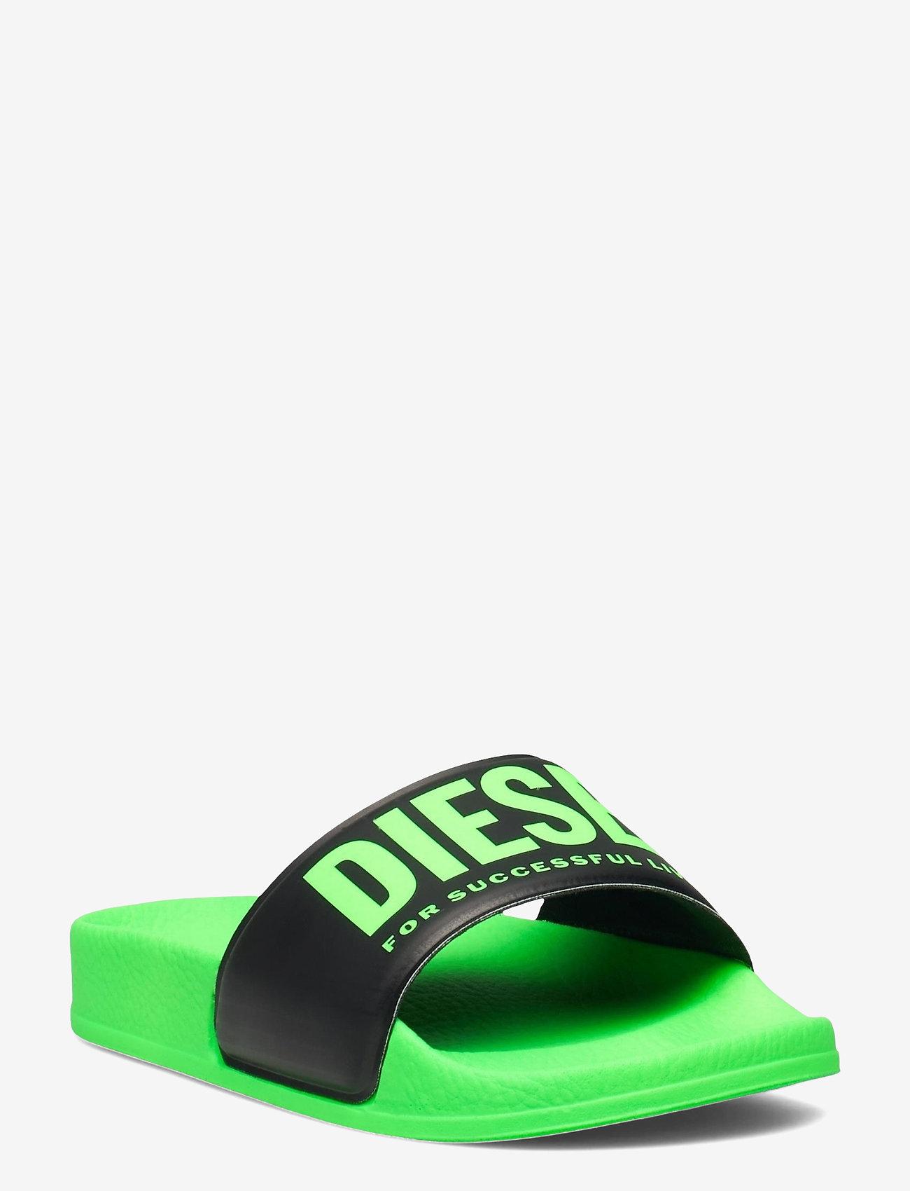 Diesel - MAYEMI SA-MAYEMI CH SANDALS - pool sliders - green fluo/black - 0