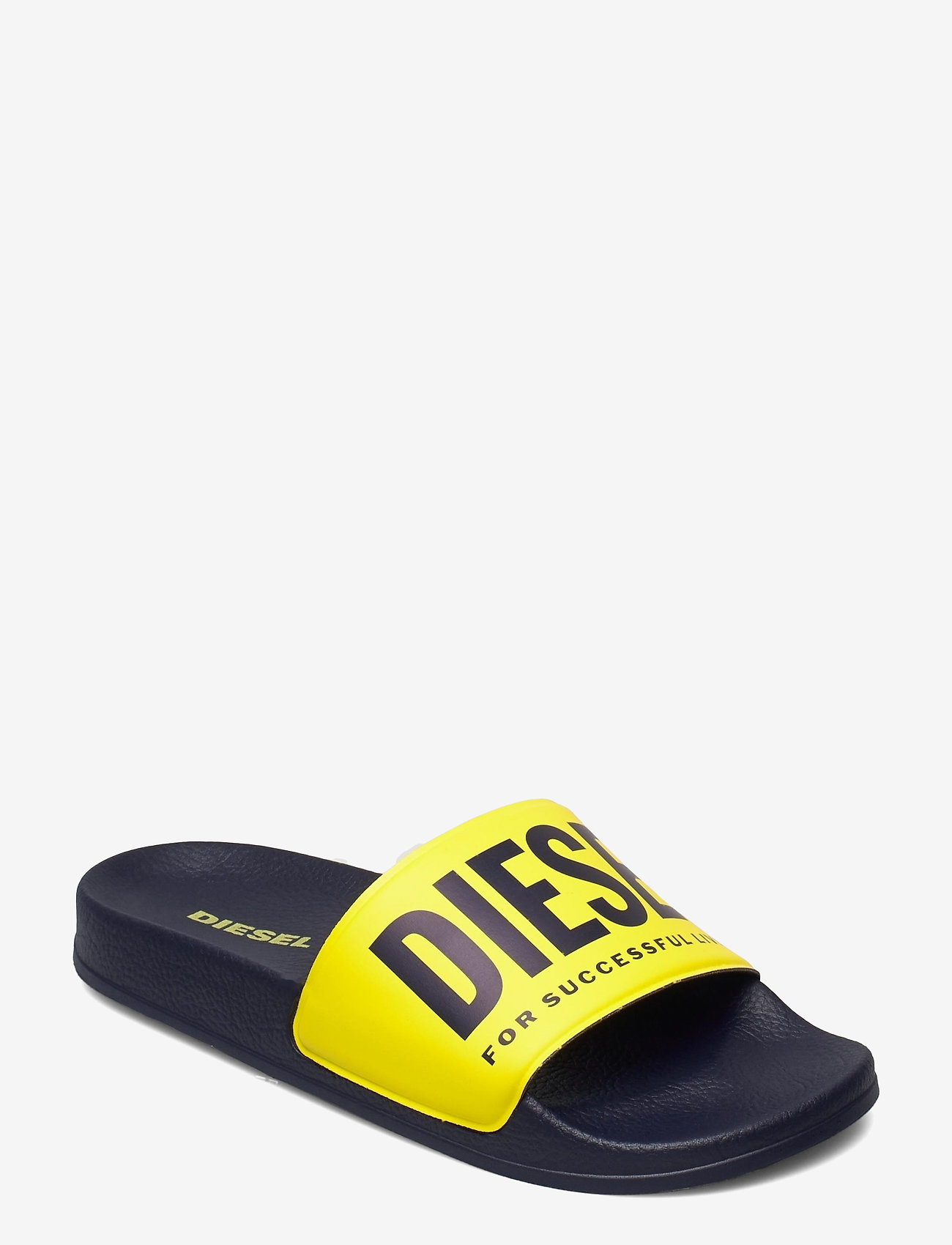Diesel - MAYEMI SA-MAYEMI YO SANDALS - pool sliders - peacoat blue/blazing yellow - 0