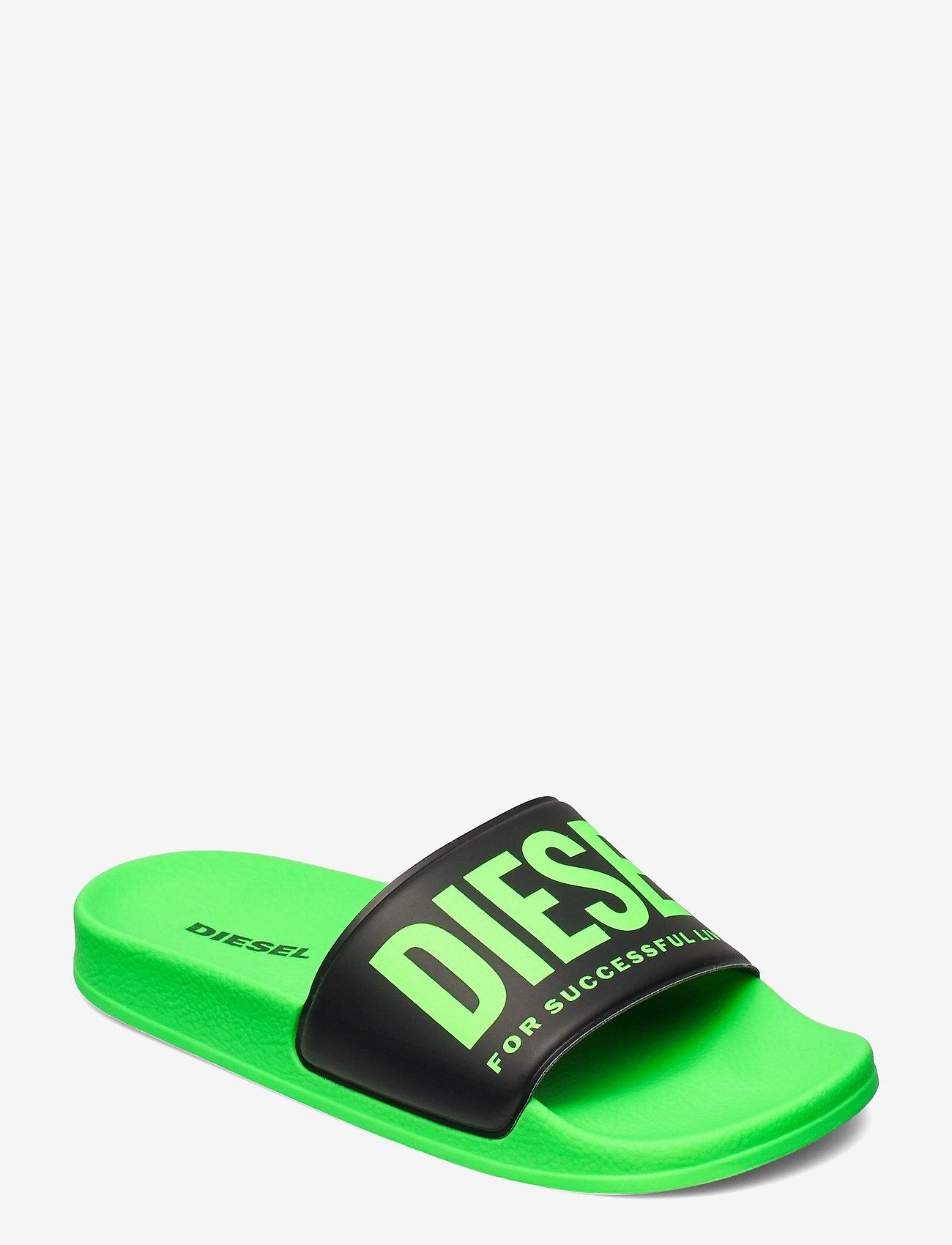 Diesel - MAYEMI SA-MAYEMI YO SANDALS - pool sliders - green fluo/black - 0