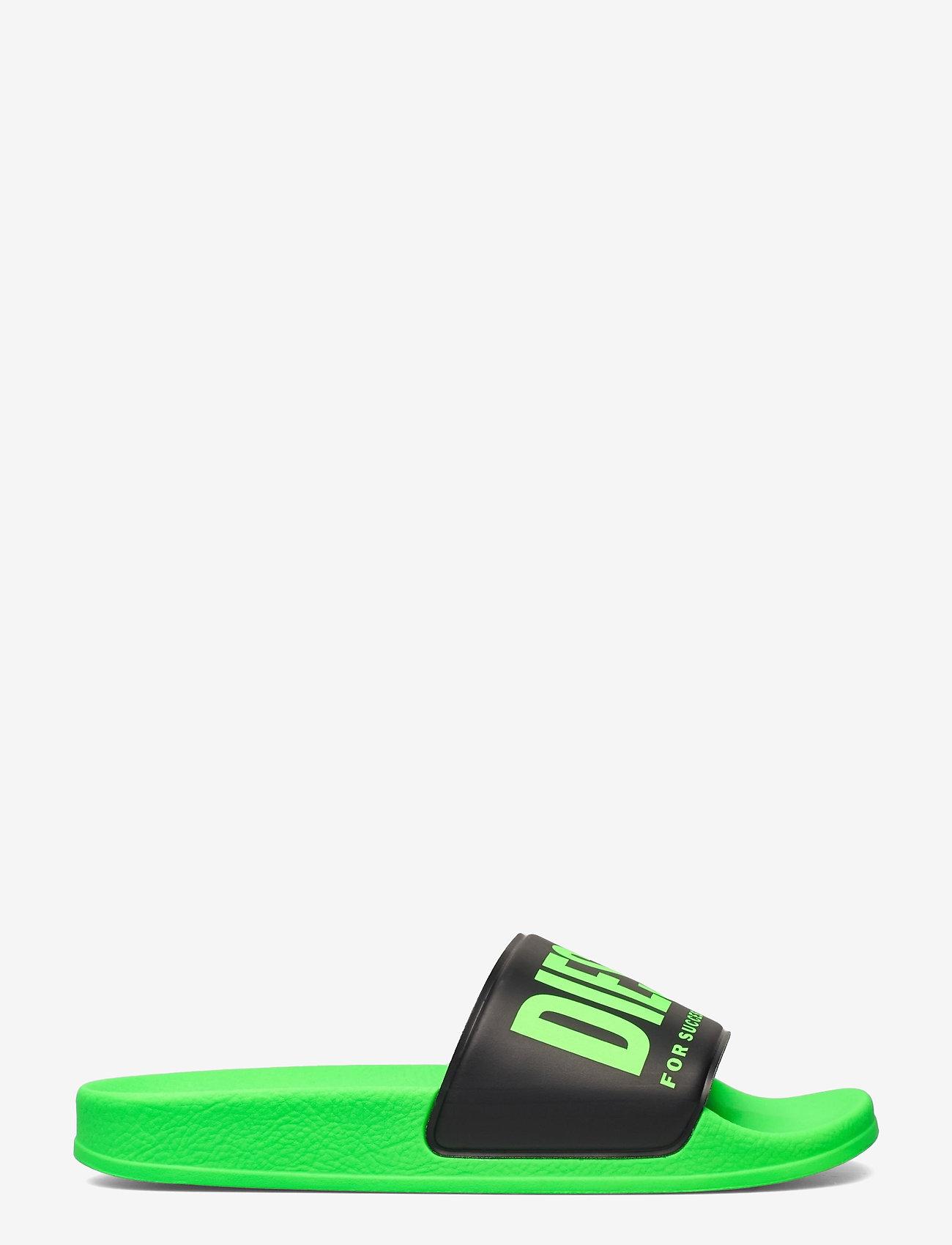 Diesel - MAYEMI SA-MAYEMI YO SANDALS - pool sliders - green fluo/black - 1