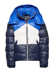 JSMITH JACKET - DARK BLUE+WHITE+BRIGHT BLUE