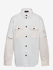 Diesel - CSKOSOV OVER SHIRT - shirts - vapourous gray - 0