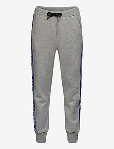 PSUITA TROUSERS - GREY MELANGE BASE + CONTRAST BLUE