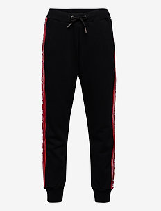 PSUITA TROUSERS - BLACK BASE + CONTRAST RED