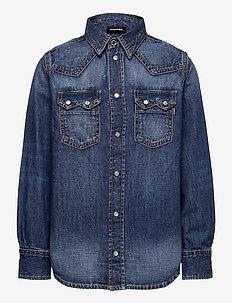 CLEO SHIRT - shirts - denim