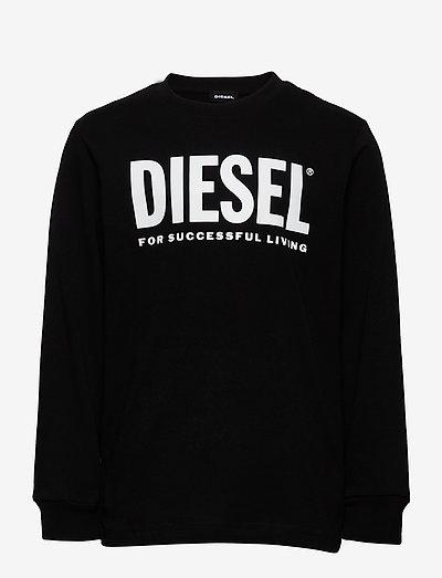 TJUSTLOGO ML T-SHIRT - langærmede t-shirts - nero