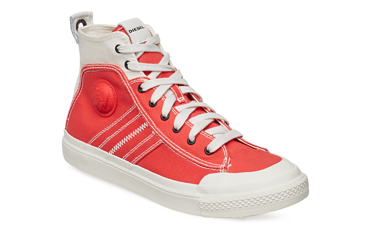 "Diesel Men ""ASTICO"" S-ASTICO MID LACE - sneake - STAR WHITE/POPPY RED"