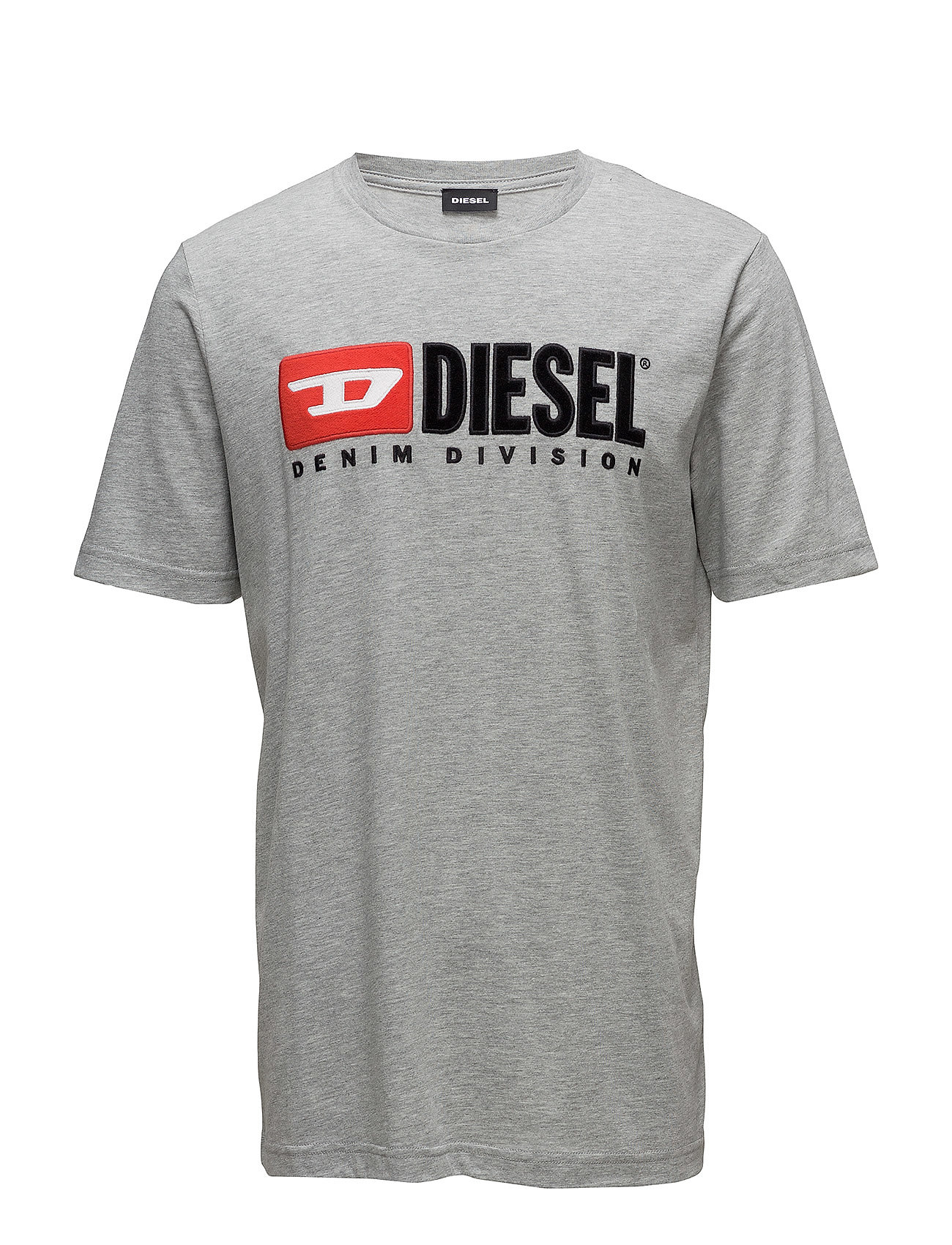 Diesel Men T-JUST-DIVISION T-SHIRT - LIGHT GREY MELANGE