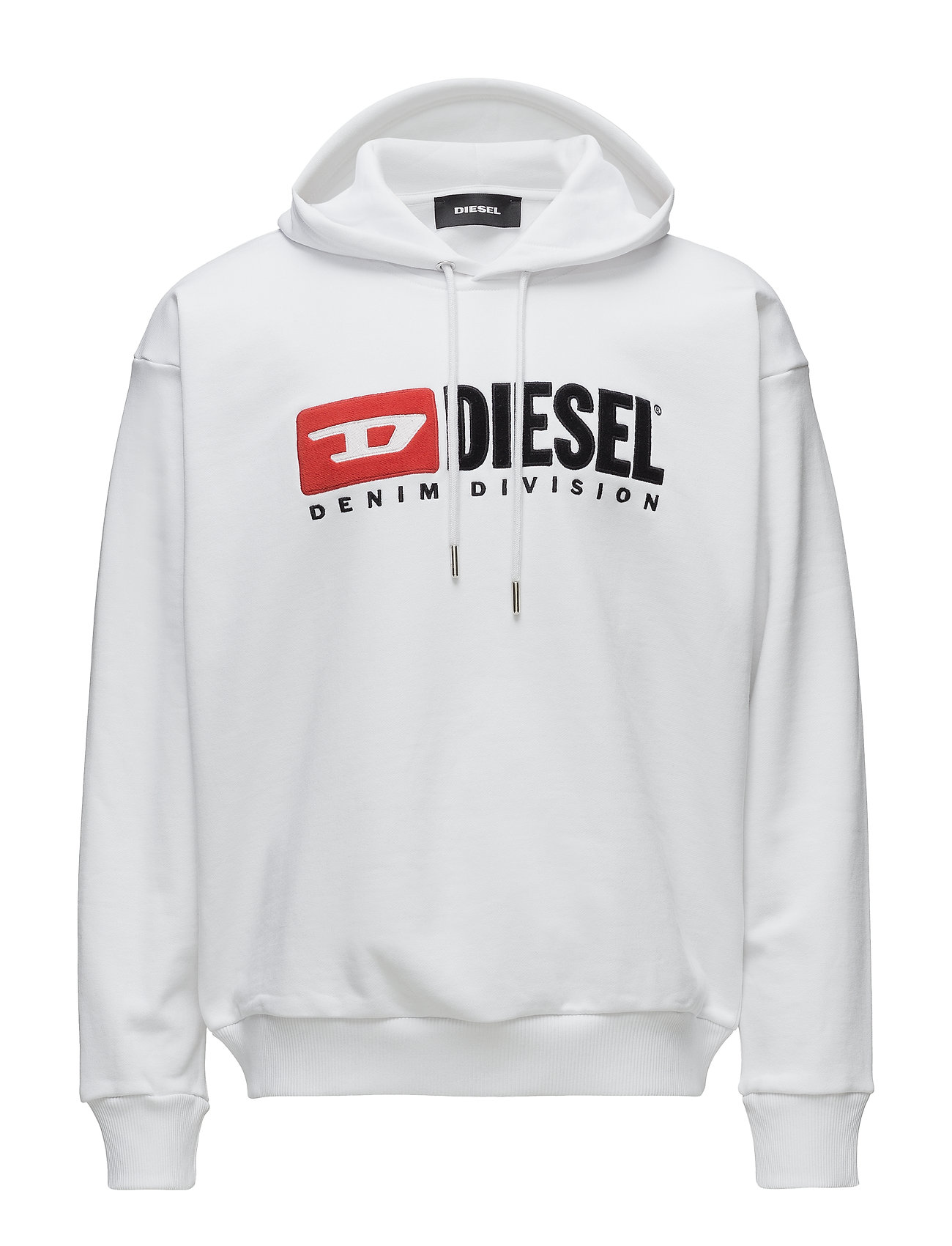 Diesel Men S-DIVISION SWEAT-SHIRT - BRIGHT WHITE