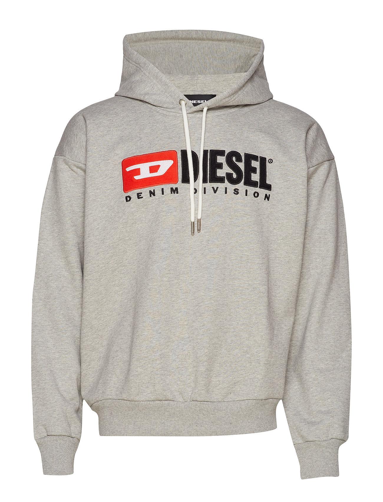 Diesel Men S-DIVISION SWEAT-SHIRT - LIGHT GREY MELANGE