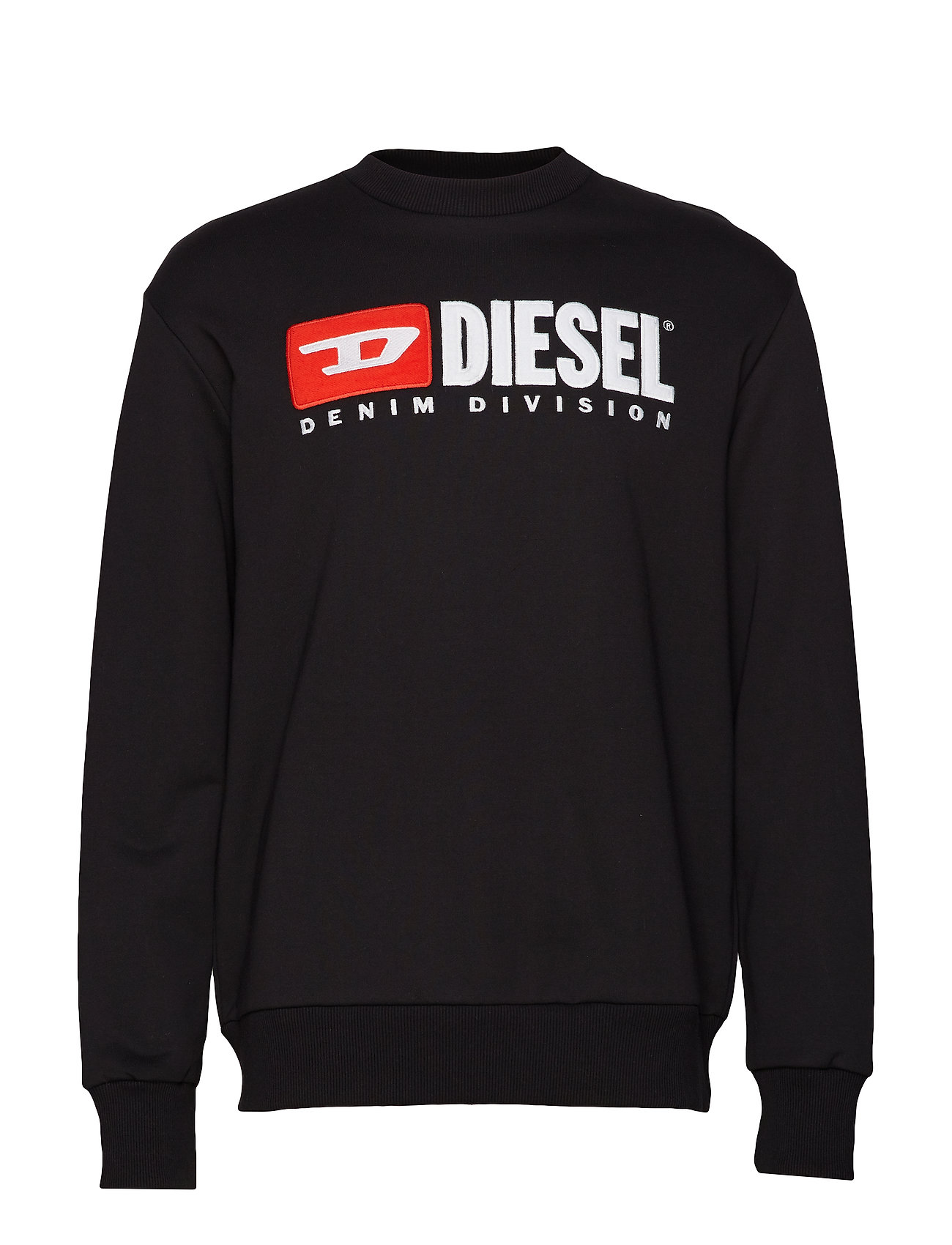 Diesel Men S-CREW-DIVISION SWEAT-SHIRT - BLACK
