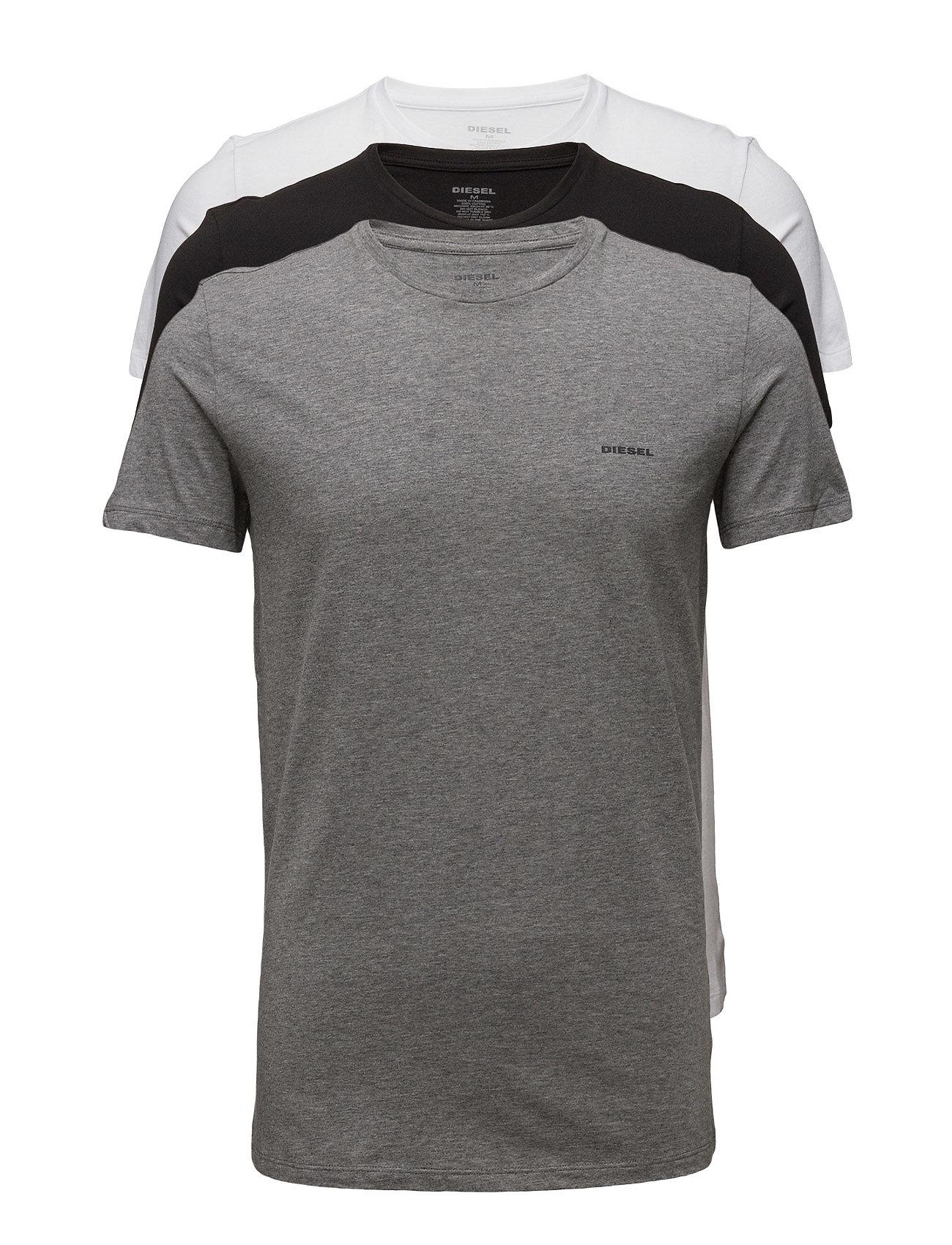 Diesel Men UMTEE-JAKETHREEPACK T-shirt 3 pack - BLACK/WHITE