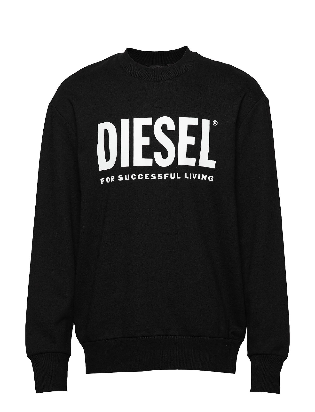 Diesel Men S-CREW-DIVISION-LOGO SWEA - BLACK