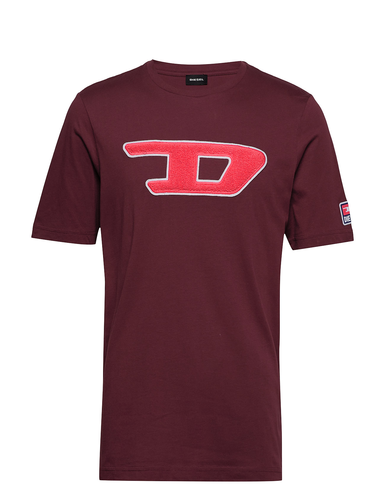 Diesel Men T-JUST-DIVISION-D T-SHIRT - TAWNY RED