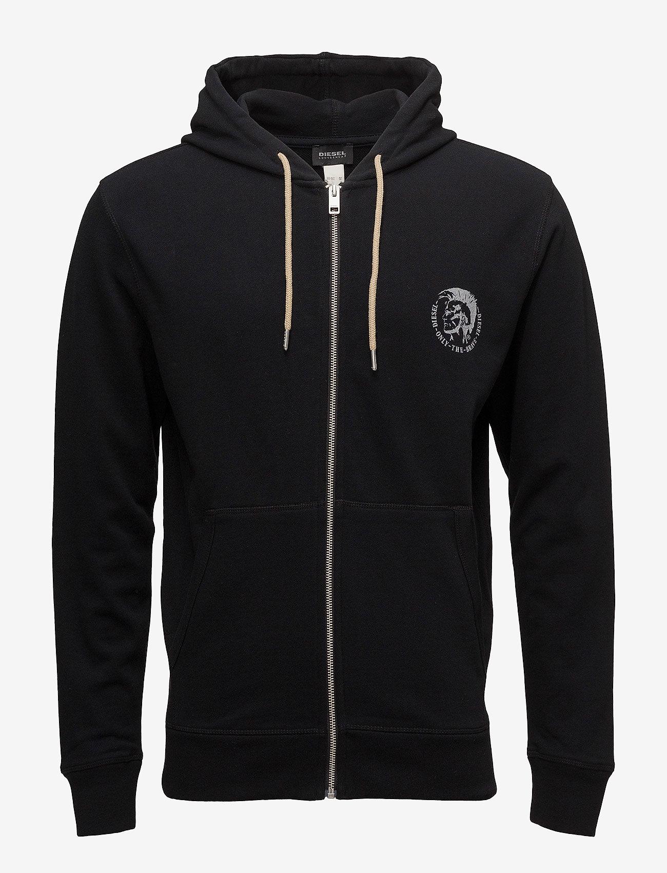 Diesel Men - UMLT-BRANDON-Z  SWEAT-SHIRT - hoodies - black - 0