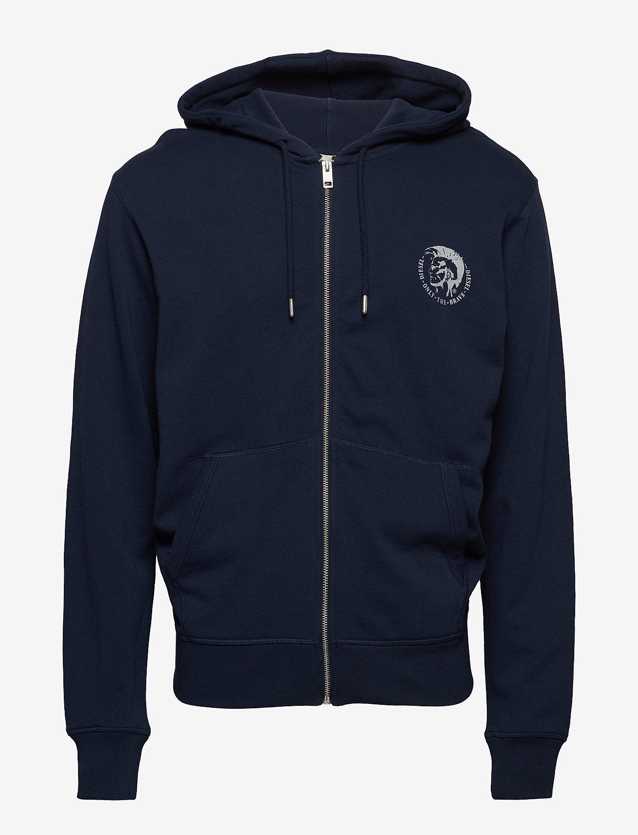Diesel Men - UMLT-BRANDON-Z  SWEAT-SHIRT - hoodies - dark/blue - 0