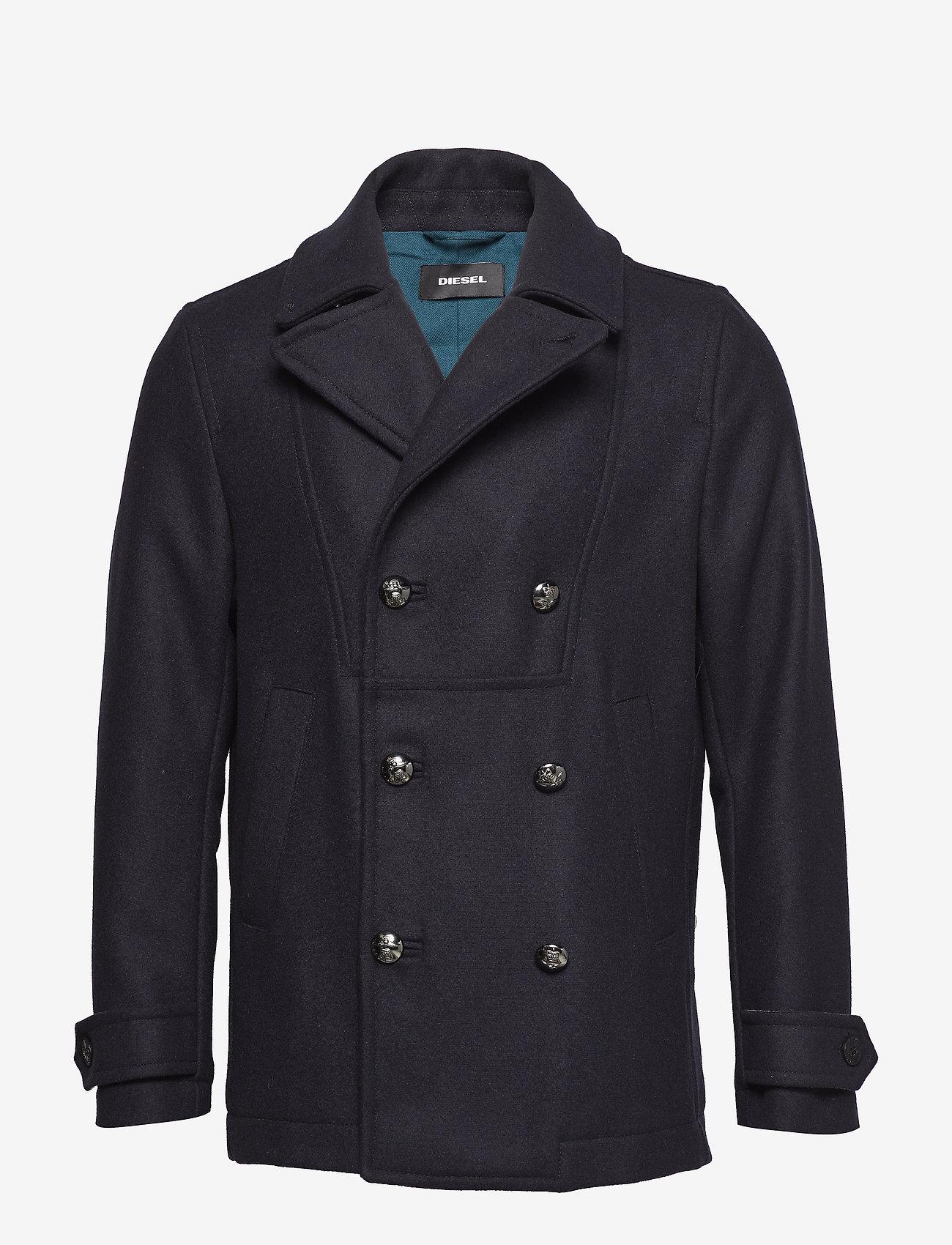 Diesel Men - W-BANFI JACKET - wool jackets - total eclipse - 0