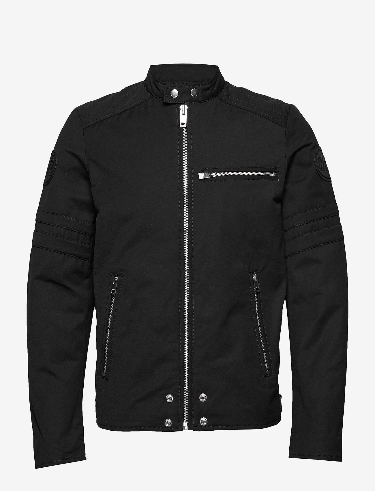 Diesel Men - J-GLORY GIACCA JACKET - light jackets - black - 0