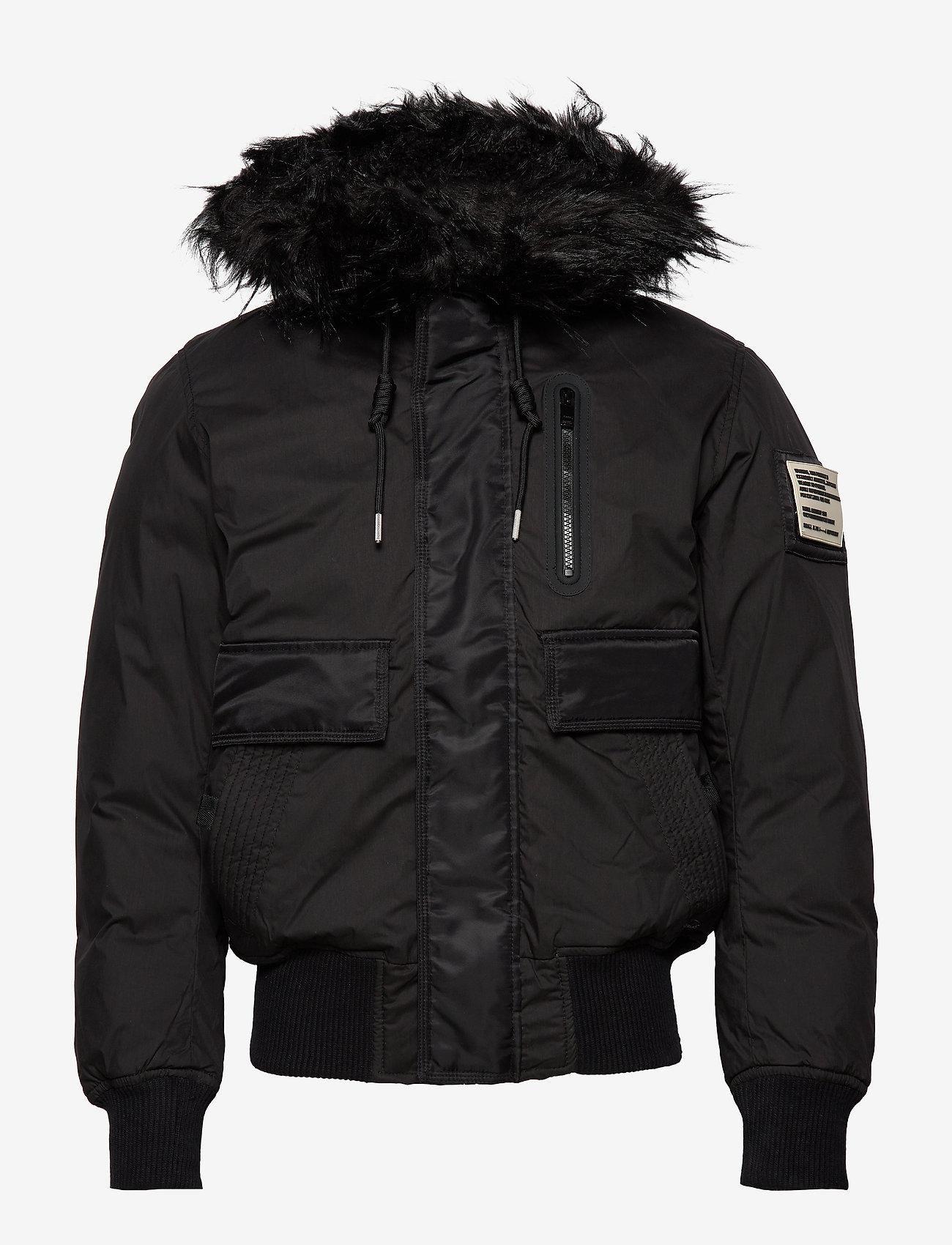 Diesel Men - W-BURKISK JACKET - bomber jackets - black - 1