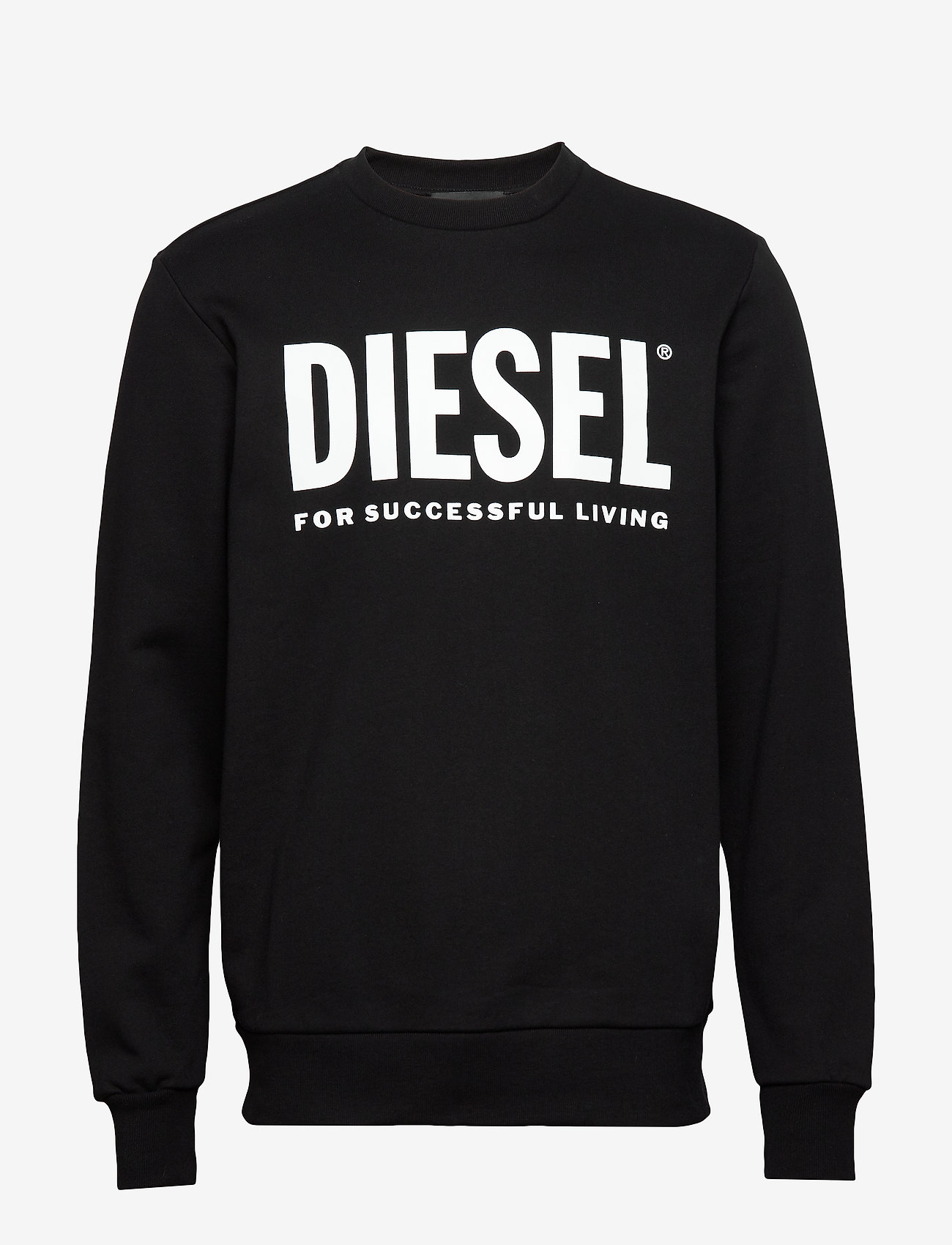 Diesel Men - S-GIR-DIVISION-LOGO SWEAT-SHIRT - tops - black - 0