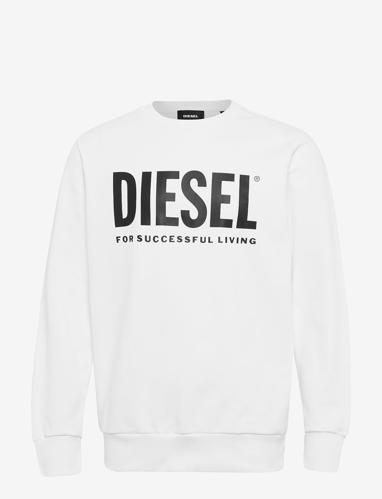 Diesel Men - S-GIR-DIVISION-LOGO SWEAT-SHIRT - tops - bright white - 0