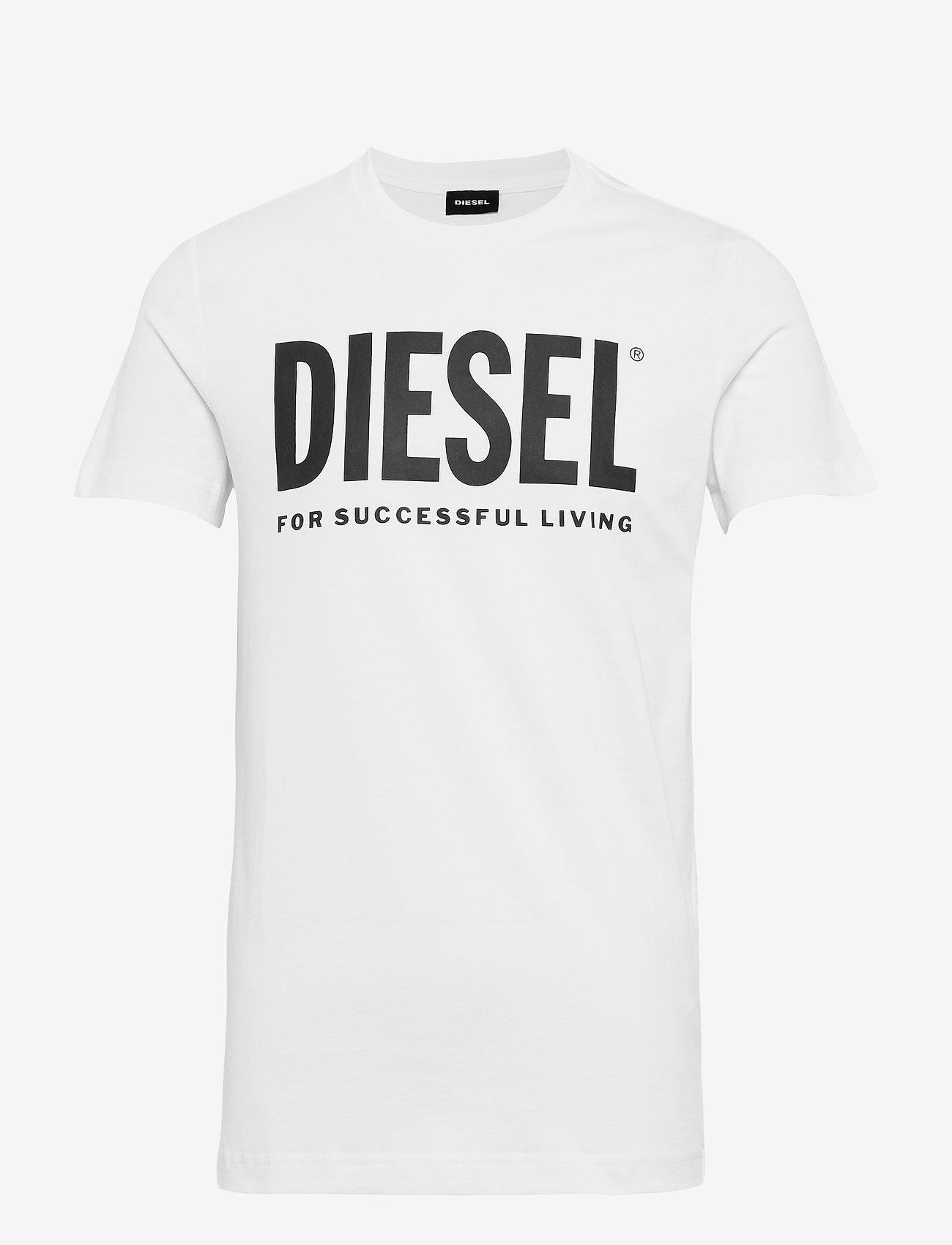 Diesel Men - T-DIEGO-LOGO T-SHIRT - short-sleeved t-shirts - bright white - 0