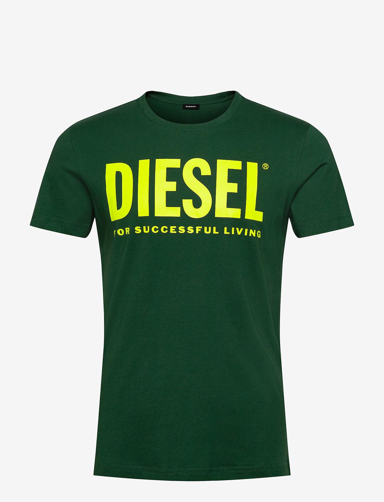 Diesel Men - T-DIEGO-LOGO T-SHIRT - short-sleeved t-shirts - green - 0