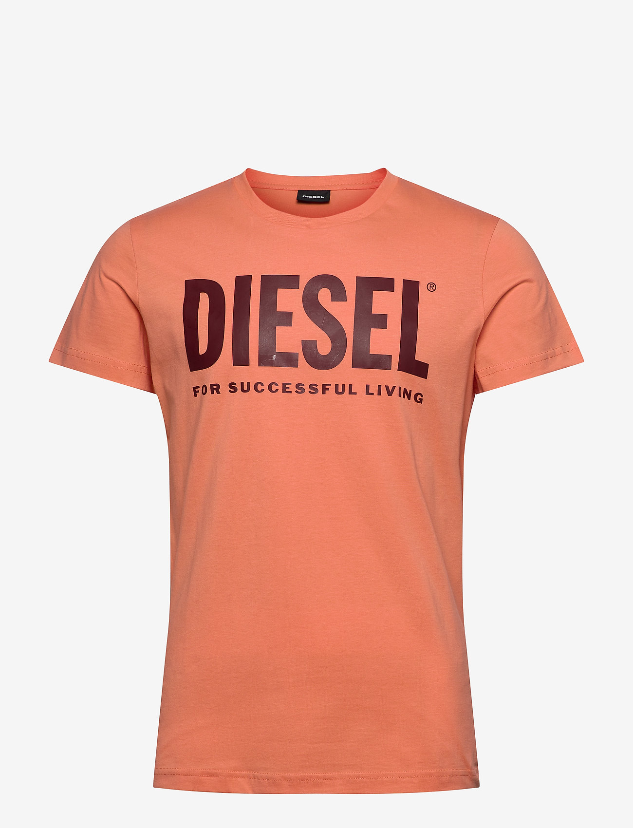 Diesel Men - T-DIEGO-LOGO T-SHIRT - short-sleeved t-shirts - orange - 0