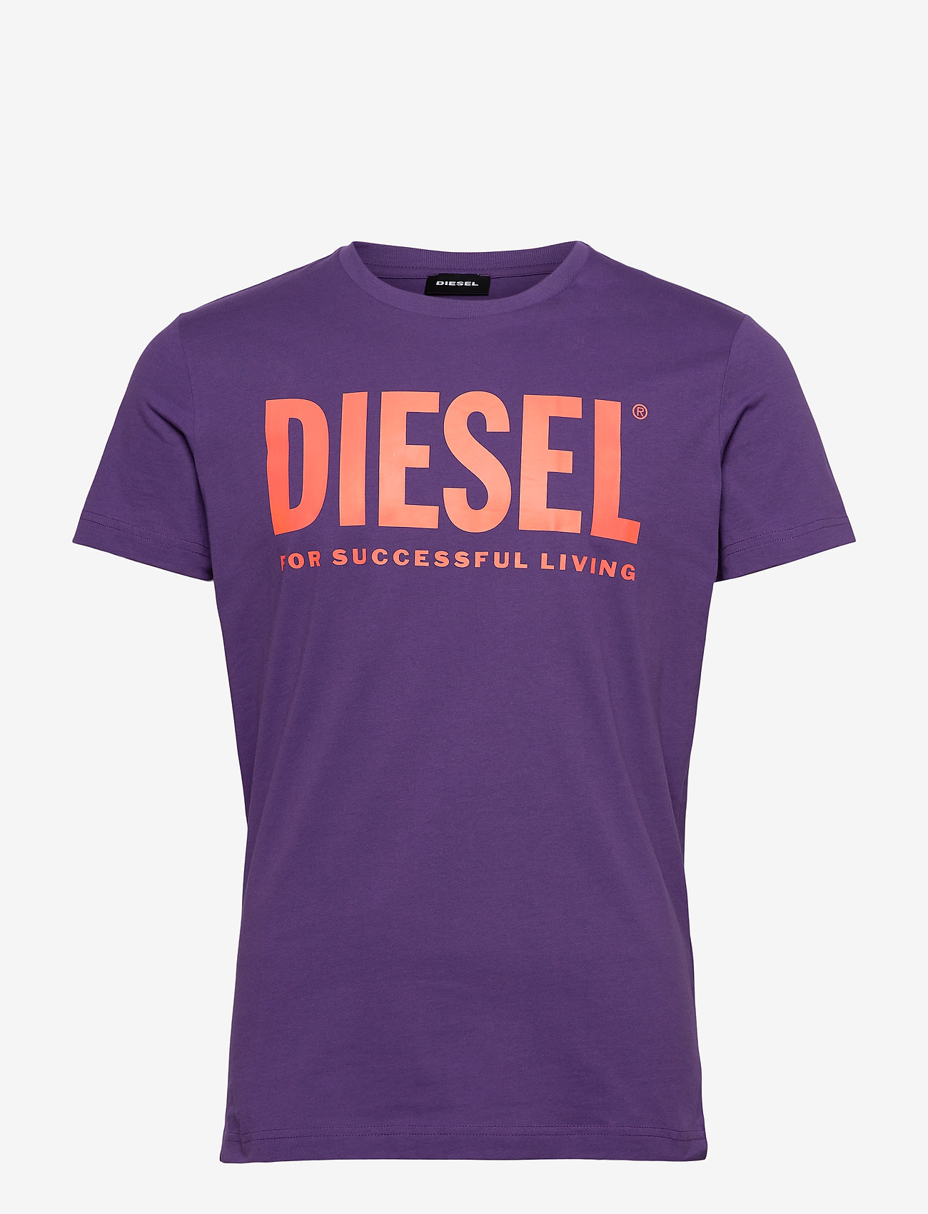 Diesel Men - T-DIEGO-LOGO T-SHIRT - short-sleeved t-shirts - violet - 0