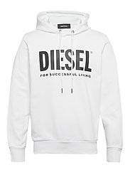 S-GIR-HOOD-DIVISION-LOGO SWEAT-SHIR - BRIGHT WHITE