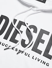 Diesel Men - S-GIR-HOOD-DIVISION-LOGO SWEAT-SHIR - hoodies - bright white - 2