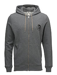 UMLT-BRANDON-Z  SWEAT-SHIRT - GREY MELANGE BC21