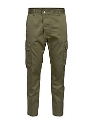 P-JARED-CARGO TROUSERS - OLIVE NIGHT
