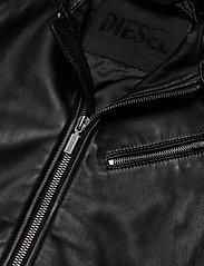Diesel Men - L-CASE-KA - lederjacken - black black black - 4