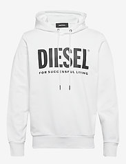 Diesel Men - S-GIR-HOOD-DIVISION-LOGO SWEAT-SHIR - hoodies - bright white - 0