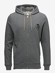 Diesel Men - UMLT-BRANDON-Z  SWEAT-SHIRT - hoodies - grey melange bc21 - 0